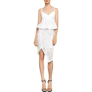 BCBGMaxAzria LACE ASYMMETRIC PENCIL SKIRT